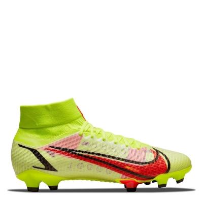 Ghete de fotbal Nike Mercurial Superfly Pro DF FG galben rosu inchis