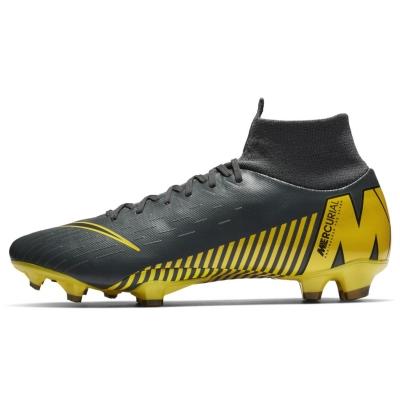 Ghete de fotbal Nike Mercurial Superfly Pro DF FG gri inchis galben