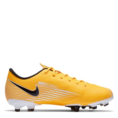 Ghete de fotbal Nike Mercurial Vapor Academy FG pentru Copii laserorange alb