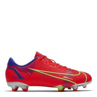 Ghete de fotbal Nike Mercurial Vapor Academy FG pentru Copii rosu inchis verde