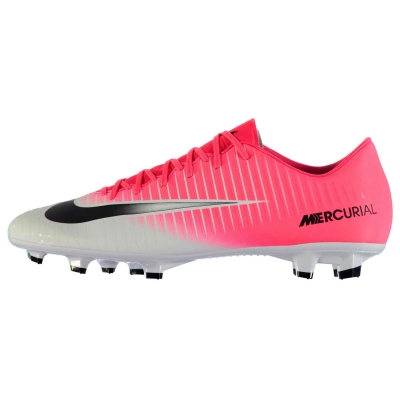 Ghete de fotbal Nike Mercurial Victory FG pentru Barbati roz negru