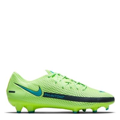 Ghete de fotbal Nike Phantom GT Academy FG verde lime albastru deschis