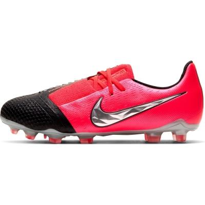 Ghete de fotbal Nike Phantom Venom Elite FG pentru copii rosu inchis negru