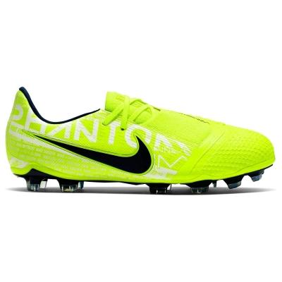 Ghete de fotbal Nike Phantom Venom Elite FG pentru copii galben albastru