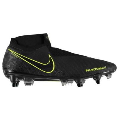 Ghete de fotbal Nike Phantom Vision Elite gazon sintetic negru galben