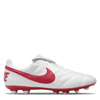 Ghete de fotbal Nike Premier II FG alb univred
