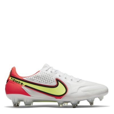 Ghete de fotbal Nike Tiempo Elite SG alb galben