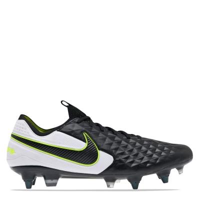 Ghete de fotbal Nike Tiempo Elite SG negru alb galben