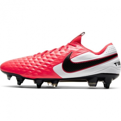 Ghete de fotbal Nike Tiempo Elite SG rosu inchis negru