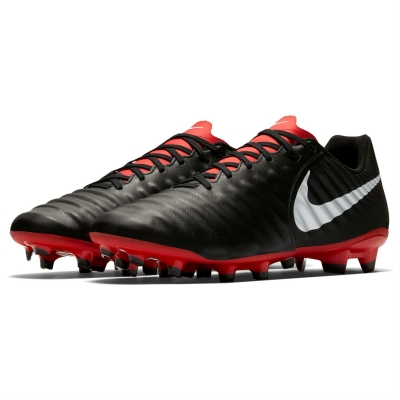 Ghete de fotbal Nike Tiempo Legend Academy FG pentru Barbati negru rosu inchis