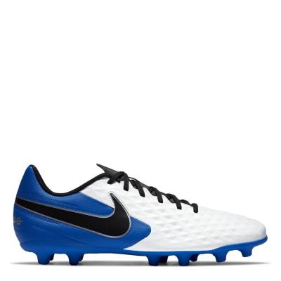 Ghete de fotbal Nike Tiempo Legend Club FG alb negru albastru roial