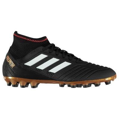 Ghete de fotbal adidas Predator 18.3 AG pentru Barbati negru alb rosu