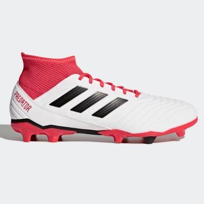 Ghete de fotbal adidas Predator 18.3 FG pentru Barbati alb negru coral