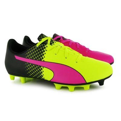 Ghete de fotbal Puma evoSpeed 5 FG pentru Copii roz galben