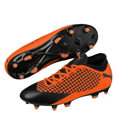 Ghete de fotbal Puma Future 2.4 FG pentru Copii portocaliu negru