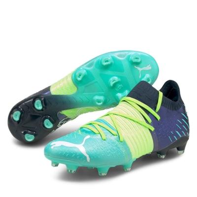 Ghete de fotbal Puma Future Z 1.1 FG greenglare albastru aqua