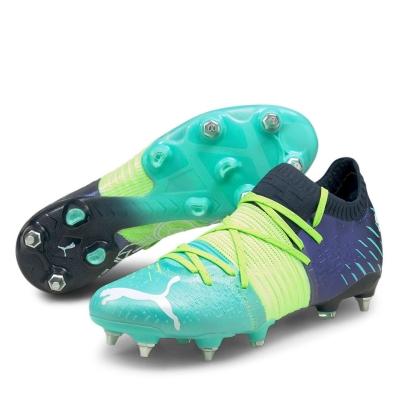 Ghete de fotbal Puma Future Z 1.1 SG greenglare albastru aqua