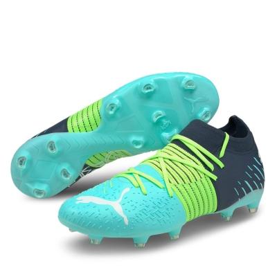 Ghete de fotbal Puma Future Z 3.1 FG greenglare albastru aqua