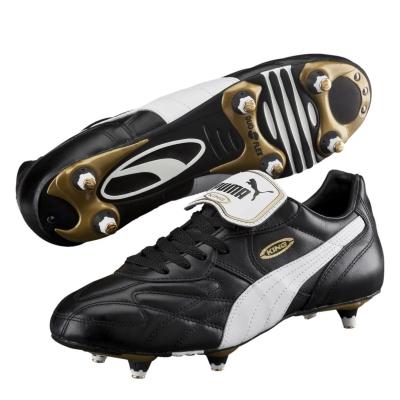 Ghete de fotbal Puma King Pro SG negru alb