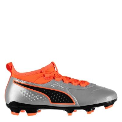 Ghete de fotbal Puma ONE 3 FG pentru copii portocaliu negru