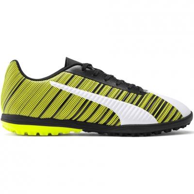 Ghete de fotbal Puma One 54 TT galben-alb-negru 105653 03