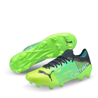 Ghete de fotbal Puma Ultra 1.2 FG greenglare albastru aqua