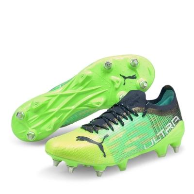 Ghete de fotbal Puma Ultra 1.2 SG greenglare albastru aqua
