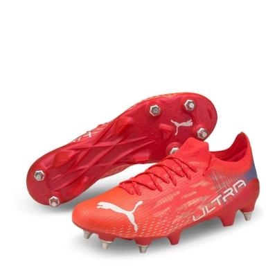 Ghete de fotbal Puma Ultra 1.2 SG rosu albastru