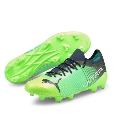 Ghete de fotbal Puma Ultra 2.2 FG greenglare albastru aqua