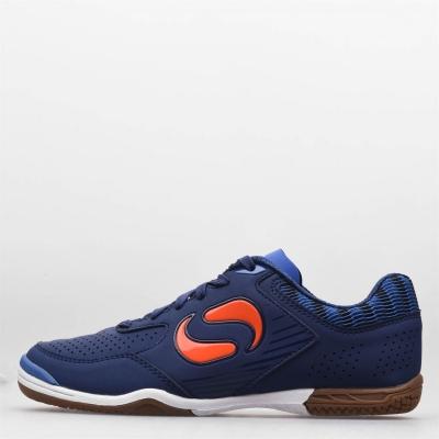 Ghete de fotbal Sondico Pedibus Indoor pentru copii bleumarin portocaliu