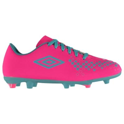 Ghete de fotbal Umbro Accure FG pentru copii roz albastru