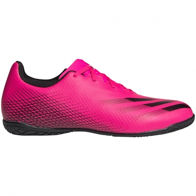 Ghete fotbal sala fotbal  Adidas X Ghosted.4 IN roz FW6905