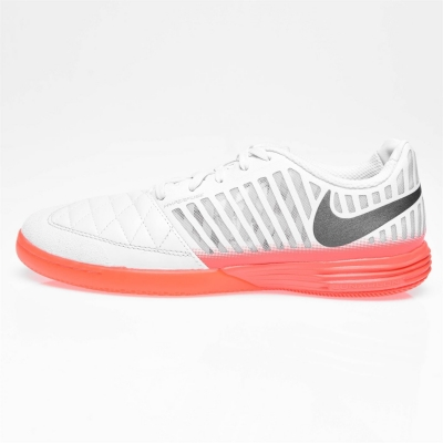 Adidasi fotbal de sala Nike Lunargato bej rosu inchis