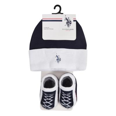 Ghete Set Caciula US Polo Assn USPA & bleumarin
