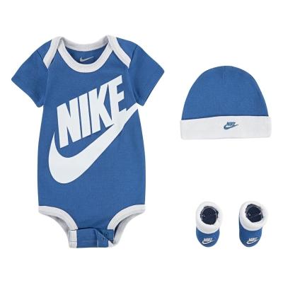Ghete Set Nike 3pc FT Bb13 albastru alb
