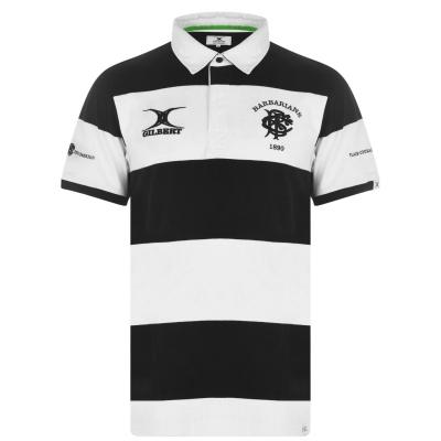 Tricouri Polo Gilbert Barbarians pentru Barbati alb negru