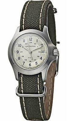 Ceas Hamilton - Khaki King 27mm - Beige - verde Canvas
