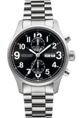 Ceas Hamilton - Khaki Officer A-c 44mm - Blk - Metal