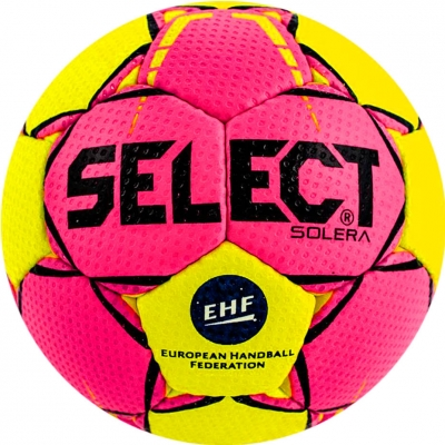Handbal Select Solera Lil 2018 Official EHF galben-roz 14293