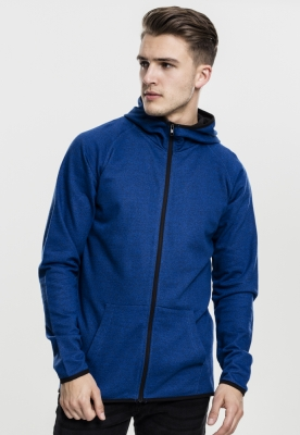 Hanorac Active Melange cu fermoar albastru-roial Urban Classics negru