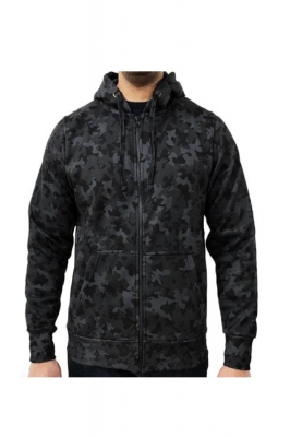 Hanorac barbati game technical apparel zip hoodie night camo negru