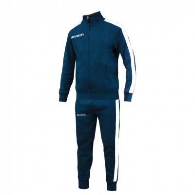 Trening sport albastru TUTA REVOLUTION SENIOR Givova barbati alb