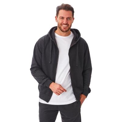 Hanorac Iron Mountain cu fermoar Workwear pentru Barbati gri carbune