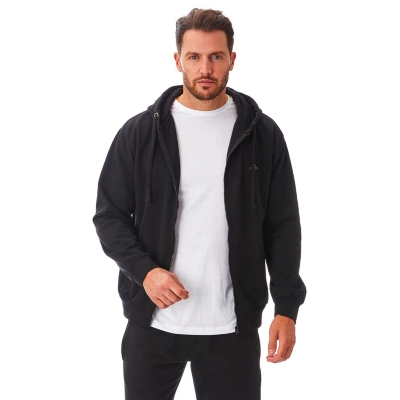 Hanorac Iron Mountain cu fermoar Workwear pentru Barbati negru