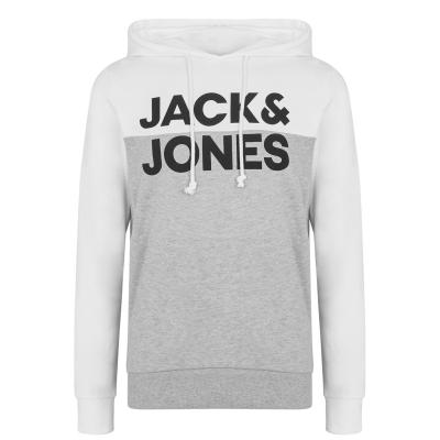 Hanorac Jack and Jones Half Logo OTH pentru Barbati gri alb