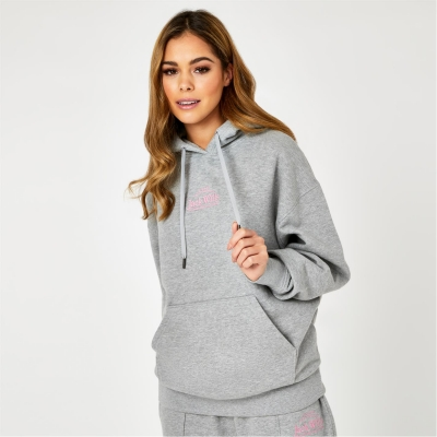 Hanorac Jack Wills Relaxed Fit Embroidered Logo gri