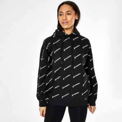 Hanorac Kangol cu imprimeu pentru Femei negru aop