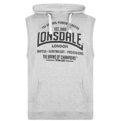 Hanorac Lonsdale Box fara maneci pentru Barbati gri marl