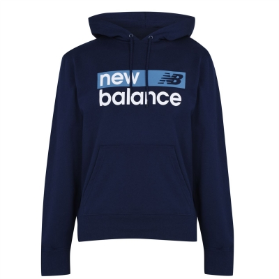 Hanorac New Balance Logo pentru Barbati bleumarin