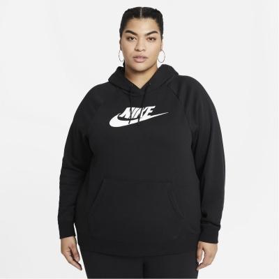 Hanorac Nike Sportswear Essential (marimi mari) pentru femei negru alb